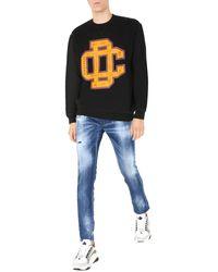 DSquared² University Fit Cotton Printed Sweatshirt - Black