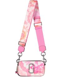 Marc Jacobs BORSA THE SNAPSHOT IN PELLE SAFFIANO STAMPA TIE AND DYE - Rosa