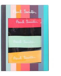 Paul Smith Pack Of Three Cotton Boxers - Black