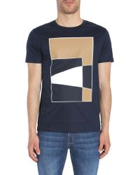 fdf776ad8 Lyst - BOSS Slim Fit T-shirt In Mercerised Cotton: 'canistro 30' in ...