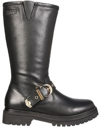 Versace Jeans Couture Boots With Heritage Tank Details - Black