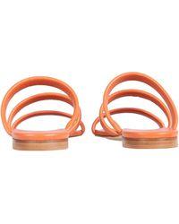 Aeyde Chrissy Leather Sandals - Orange