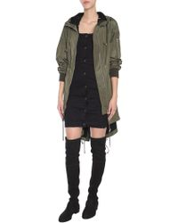 Moschino - Parka With Lace-up Detail - Lyst