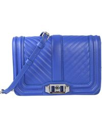 Rebecca Minkoff Small Love Leather Shoulder Bag - Blue