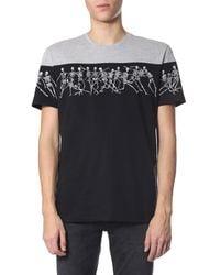 Alexander McQueen Jumping Skeletons Printed T-shirt - Grey