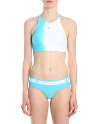 adidas By Stella McCartney - TOP BKINI CON STAMPA OMBRÉ - Lyst