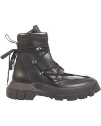 Rick Owens - Leather Hiking Boots - Lyst