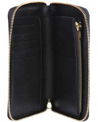 COACH Hammered Leather Wallet With Logo - Black