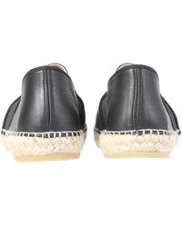 KENZO Leather Espadrillas With Embossed And Elastic Tiger - Black