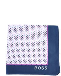 BOSS by Hugo Boss Printed Silk Scarf With Logo - Pink