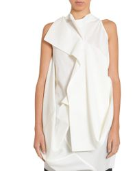 Rick Owens Backless Egret Top - White
