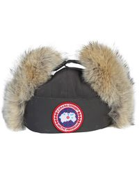 Canada Goose Aviator Hat With Fur - Gray