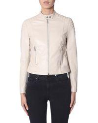 """Belstaff """"mollison"""" Leather Jacket - Natural"""