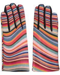 Paul Smith Leather Gloves - Multicolour