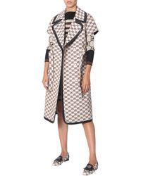 Alberta Ferretti White Cotton Trench Coat