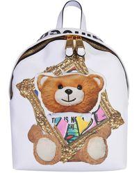 "Moschino ZAINO FRAME ""TEDDY BEAR"" - Bianco"