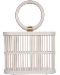 Cult Gaia Mini Coco Bamboo Bag - White