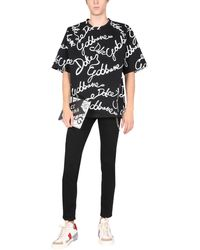 Dolce & Gabbana - T-shirt With All Over Rubber Logo - Lyst