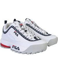 Fila Disruptor Logo Low Wmn Trainers - White