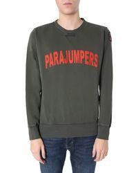 "Parajumpers ""caleb"" Round Neck Sweatshirt - Green"