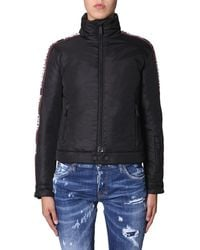 DSquared² Down Jacket With Logo Band - Black