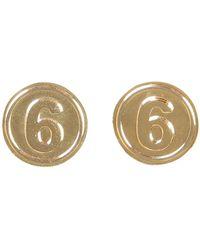 MM6 by Maison Martin Margiela - Palladium 6 Earrings - Lyst