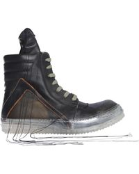 Rick Owens - Geobasket Leather Sneakers - Lyst