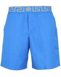 Versace COSTUME DA BAGNO BOXER CON GRECA - Blu
