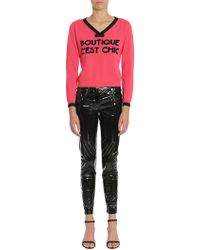 Boutique Moschino - V Collar Wool And Cashmere Sweater - Lyst
