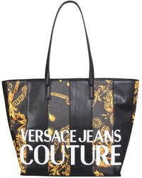 Versace Jeans Couture Faux Leather Tote Bag - Black