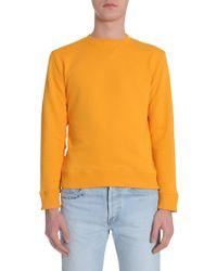 Saint Laurent Sl Patch Jumper - Yellow
