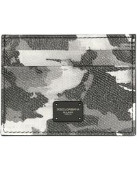 Dolce & Gabbana - Card Holder With Camoflauge Print And Logo - Lyst