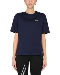 Lacoste X National Geographic Cotton Crew Neck T-shirt - Blue