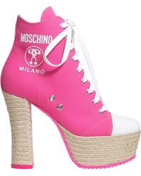 Moschino - Lita Canvas Boots With Rope Sole - Lyst