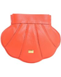 Boutique Moschino | Shell Crossbody Leather Bag | Lyst