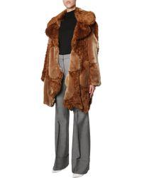 Stella McCartney Sugar Cane Faux Fur Coat - Brown