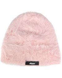 MSGM Angora Kangol X Knitted Hat - Pink