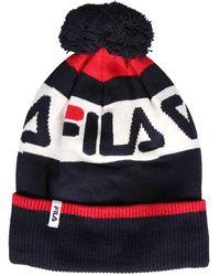 Fila Beanie Hat With Logo And Pom Pom - Black