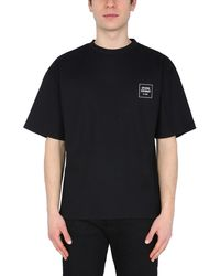 Opening Ceremony T-SHIRT A COSTINE IN COTONE - Nero