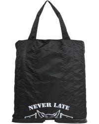 Maison Margiela Shopping Bag In Technical Fabric - Black