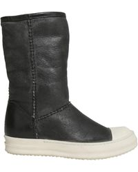 Rick Owens - Leather Boots With Shearling Lining - Lyst