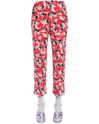 N°21 Crop Silk Pants - Red