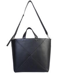 Bottega Veneta Large Leather Tote Bag With Maxi Braided Effect - Black