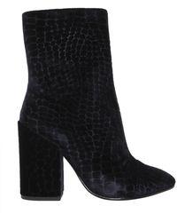 Ash Flora Velvet Boots - Blue