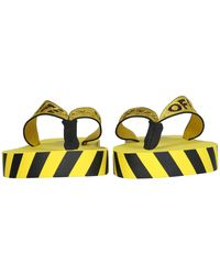 Off-White c/o Virgil Abloh Rubber Thong Industrial Band Sandals - Yellow