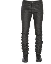 Diesel Black Gold Jeans Type-2614 In Denim Spalmato Extra Long 3d - Black
