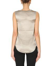 Fabiana Filippi Sleeveless Silk Top - Grey