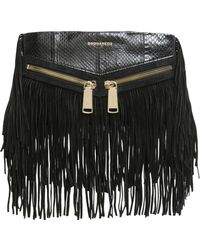 DSquared² - Borsa Clutch Rock Con Frange - Lyst