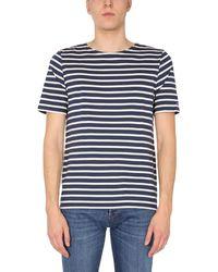 "Saint James ""levant Modern"" Cotton T-shirt With Striped Pattern - Blue"