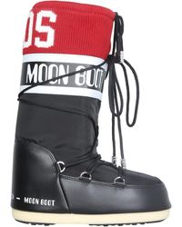 Gcds Fabric Moonboots With Logo Band - Black
